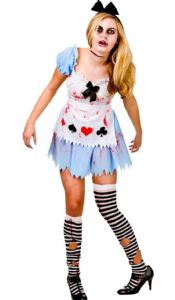 Alice in Zombieland ladies Halloween fancy dress costume